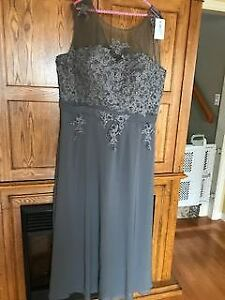 Grey formal dress