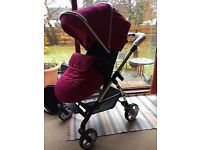 Silver Cross Buggy / Pram Combo - Raspberry