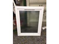 UPVC white obscure glass window 980 x 1210