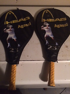 Head Aggassi 23 tennis rackets with cases
