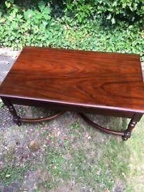 2 Polished wood tea/coffee/magazine tables