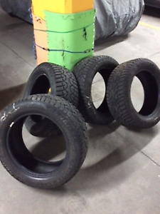 FOUR USED WINTER TIRES  (235/55  R17)