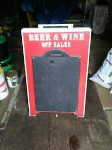"Beer & Wine Off Sales A Frame Sign About 23"" by 30"""