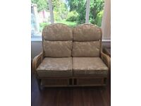 Conservatory furniture for sale will split good condition, 2 sofas, 2 lamp tables, table and stool