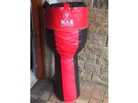 M.A.R. Punch Bag Real PU Leather Uppercut Boxing Martial Arts - Bracket Included - Collection Only