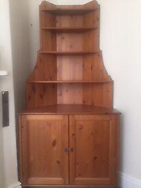 IKEA wooden corner dresser in excellent condition & matching book shelves
