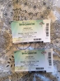 TWO PRIORITY TICKETS TO GREENDAY IN HYDE PARK 1ST OF JULY **BELOW FACE VALUE**