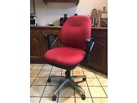 Gas Lift Office Chair, Red