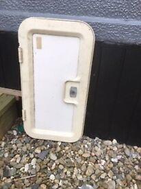 Gas box door for caravan