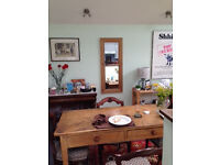 Reduced Victorian Pine Table with Two Drawers