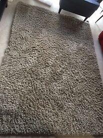 Light grey rectangular carpet