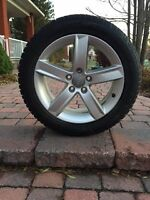 Audi A4 Mags and Dunlop Winter Tires