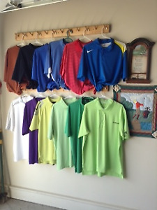 GOLF CLOTHING, CLUBS AND LADIES BIKE