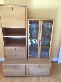 Free Standing Dansk Dining / Living Room Cabinets
