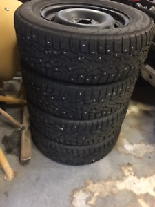Studded Snow Tires On Rims for Mercury Sable