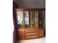 Dresser display cabinet made by Sutcliffe