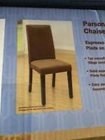 Brand New  PARSON DINING CHAIRS Tan ( in box)