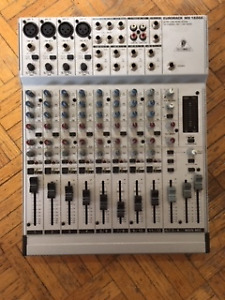 Mixing board. Behringer Eurorack MX  1604A  8-12 channel..