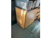 2 drawer wood filing cabinet with key