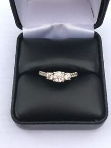 1.06 Carat Round Brilliant 3 Stone Diamond Engagement Ring London Ontario image 1