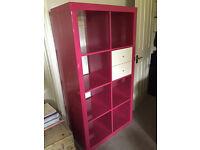 Ikea Hot Pink Gloss Expedit/Kallax Storage Unit