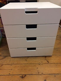 Ikea white A2 plan chest/drawers