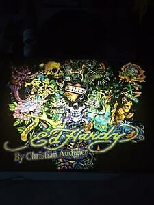 "ED HARDY FLUORESCENT LIGHT BOX by CHRISTIAN A3""x18""UDIGIER"