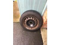 Car Wheel with Tyre - from Fiat Punto - 175/65R15