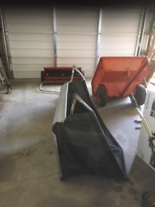 Yard grass and leave sweeper made by Case