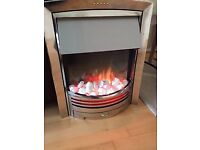 Dimplex Chrome Electric Fire with Optiflame effect