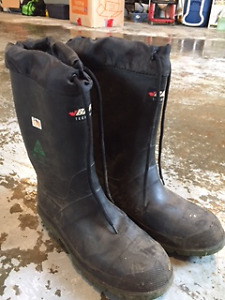 Baffin rubber type insulated safety boots