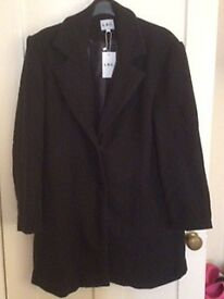 Black Mid Length Coat size XL (small fit)