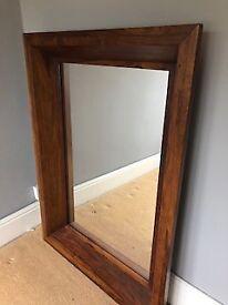 John Lewis Indian Wood Mirror