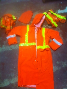 Safety raincoat and hood  $48;