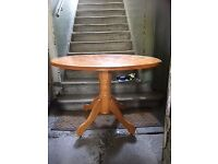 Solid Wood Round Table and 4 Chairs