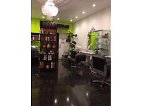 hairdressing and beauty space to rent in a professional salon £45 perday