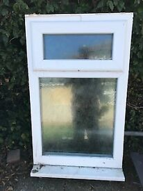 double glazed UPVC white frame - frosted glass window for bathroom or other
