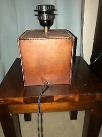 Leather lamp base - John Lewis