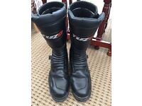 Black leather waterproof Motorcycle Boots