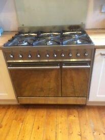 SMEG 6 burner double oven freestanding cooker
