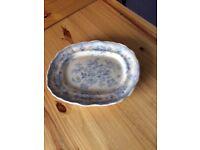 Edge Malkin & Co Asiatic Pheasant Blue & White Meat Platter