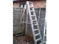 12 rung industrial step ladder ( youngmans) approx 8 ft to top