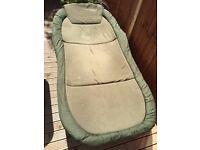 Chub Cloud 9 Jumbo 4 leg bedchair, Trakker Pillow and Trakker Specialist Sleeping Bag. RRP £419.99