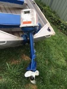 stessl 12 ft tinny with 16 hp suzuki outboard Orange Orange Area Preview