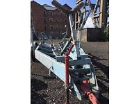20ft / 6.14m Substantial double axle braked boat trailer for sale PRICE REDUCED - Greenock £985.00