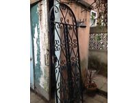 2 wrought iron shutters and 1 gate. Fit to your home or use as trellises. Buy together or separate.