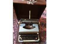 Vintage 1965 Imperial Good Companion portable Typewriter, Case NEW LOWER PRICE £25