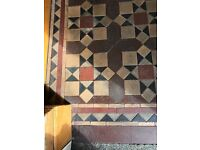 Old Victorian mosaic floor tiles - recently lifted