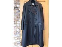 Black leather full length coat from Jigsaw, size 14.