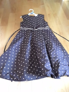 Girls Brown with pink dots Size 10